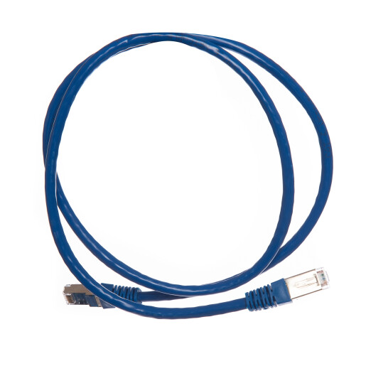 Patch cord cat 5e FTP 0.5 m albastru DataLink