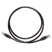 Patch Cord UTP 2 m negru cat 6